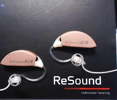 A NEW PAIR ReSound AIR 60 digital HEARING AIDS new fittings set for average loss