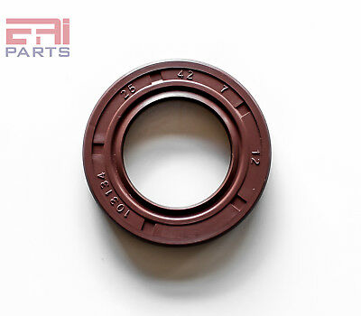 Viton Oil Seal TC 25X42X7 Rubber Double Lip w/ Spring 25mmX42mmX7mm. (2 Pieces)