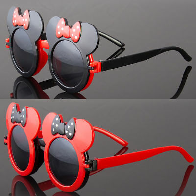 Vintage Round Mouse ears Sunglasses For Girls Kids Child Toddler Baby Driving