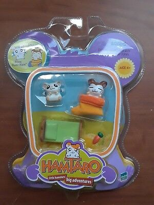 NEW Hamtaro Little Hamsters Big Adventures Hasbro 2000 NIB Ham Ham Snoozer Bijou