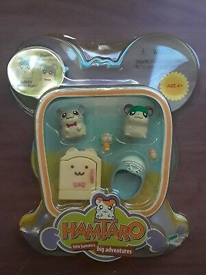 Opened Hamtaro Little Hamsters Big Adventures Hasbro 2000 Cappy Dexter ham ham