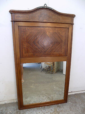 """large,antique,mahogany,inlaid,mirror,wall mirror,6'h x 3'5""""w,business,home,bar"""
