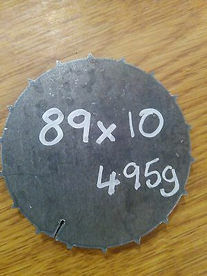 Mild Steel Disc Circle  89mm x 10mm ***Price Drop £4.50 to £3.75***