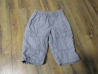 FADED GLORY BOYS INFANTS Gray Lined PANTS SIZE 12M Hard to Find!