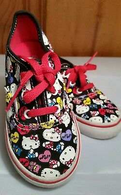 02ce91b5e VANS Off the Wall HELLO KITTY T-375 Toddler Kitty Heart Teddy Bear Shoes 8.0