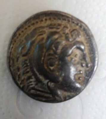 silver Greek coin of King Alexander the Great Alexander III Tetradrachm.