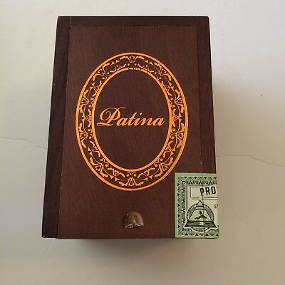 Cigar Box PATINA Habano Rustic EMPTY Wood Brown Slide Lid Storage Stash Crafts