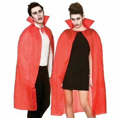 Adult Red Vampire Dracula Cape Halloween Fancy Dress Costume Accessory