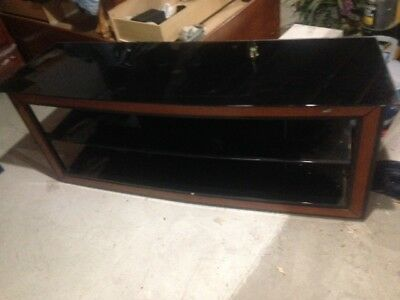 Bello Glass With Wood Front Tv Stand 150 00 Picclick