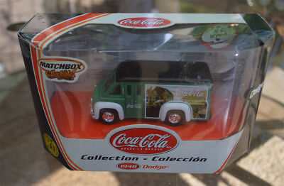 MATCHBOX 50th ANNIVERSARY COLLECTABLES COCA-COLA COLLECTION 1948 DODGE