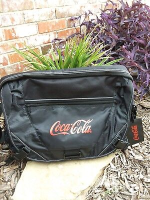 Coca Cola  Black Laptop Messenger Bag in EUC employee issue