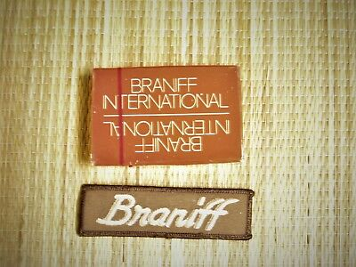 Braniff Airlines Sealed Card Deck and Uniform Patch