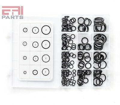 EAI Viton O-Ring Kit Assortment, Black, (12 Sizes, Total 200pcs)