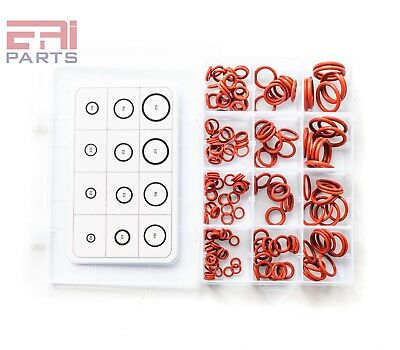 EAI Silicone O-Ring Kit Assortment, Rust Red, (12 Sizes, Total 200pcs)