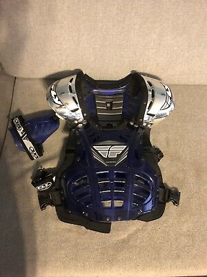 Fly Racing Convertible 2 Motocross youth MX chest shoulder protector adjustable