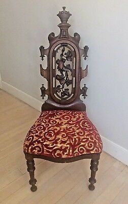 Fantastic Heavily Carved Rosewood Victorian Slipper/Side Chair!!!