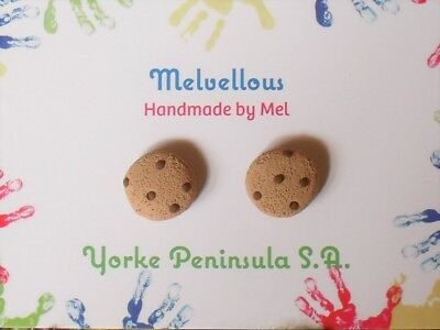 Lil' choc chip cookie earrings Melvellous