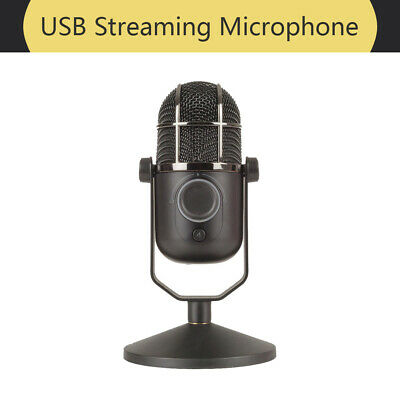 Adjustable Stand USB Streaming Microphone Wide Frequency Plug and Play