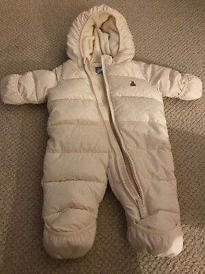 Baby Gap Girls Boys Infant Snowsuit Ivory 0-3 Months
