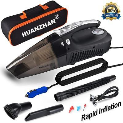 Car Vacuum Cleaner Portable Handheld High Power 5000 Pa Wet Dry Auto 12V 106W