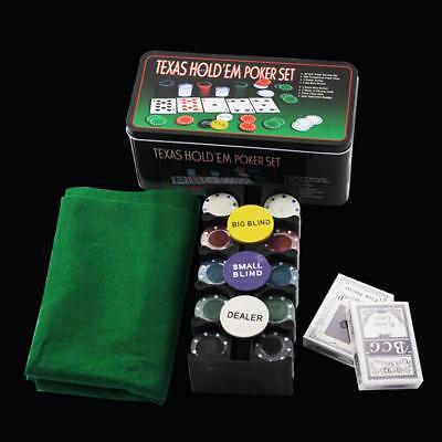 200 Chipset Poker Game Play Chip Set Casino Chips Dice Gamble Cards AU STOCK