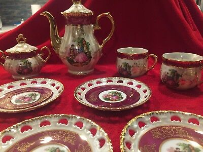 Mci Japan vintage porcellin colonial tea set new in box never used
