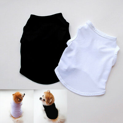 Plain Pet Dog Cat Summer Clothes Pure Color T-Shirt Puppy Cotton Vest Costumes