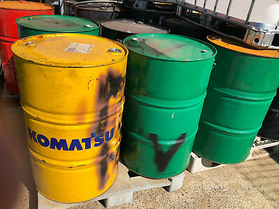 44 Gallon / 200 Litre Steel Drums Fixed-top for horse jump, fire pit, waste