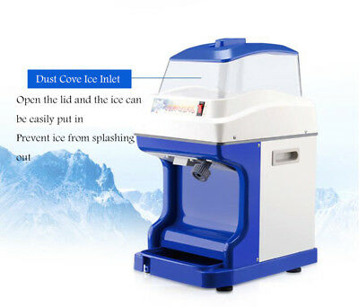 Fully Automatic Electric Ice Shaver Tube Crusher Commercial Tool Shave Snow Cone