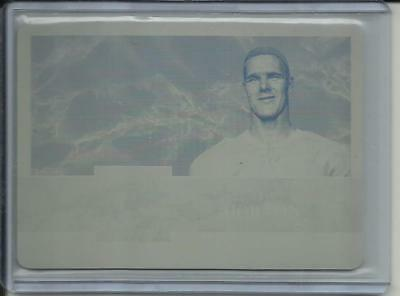 2017 Tim Horton ITG Used Hockey 1/1 Yellow Printing Plate Vintage Mem Card