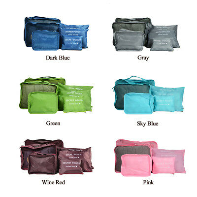 10Pcs/Set Travel Storage Bag Waterproof Clothes Packing Cube Luggage Organizer