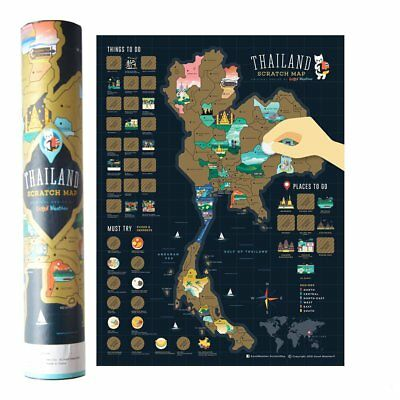 Scratch Off Map Thailand Edition / Personalized Travel Poster Travel Atlas Decor