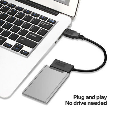 USB 3.0 to Micro SATA Adapter Cable for 1.8 Inch HDD SSD Converter 16Pin Wide