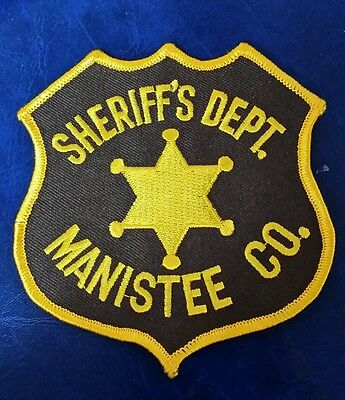 Manistee County, Michigan Sheriff (Police) Shoulder Patch Mi