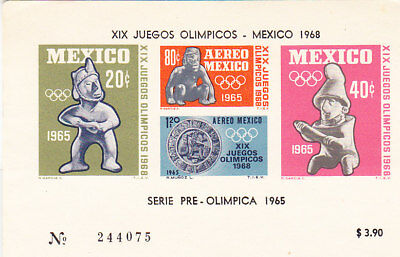 Mexico 1968 Olympics Miniature Sheet - Mint Imperf