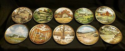 American Countryside by ERIC SLOANE Lot of 10 Collector's Plates Minty Condition