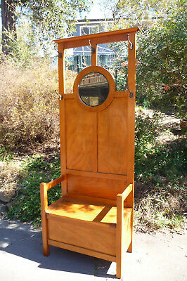 Vintage Arts & Crafts Queensland Maple Hallstand Lovely Condition C1920's