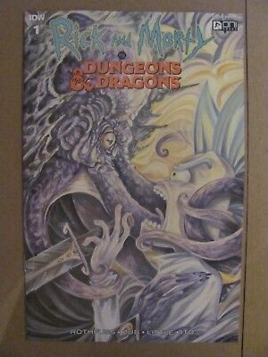 Rick and Morty vs Dungeons & Dragons #1 Oni IDW 2018 Series 1:10 Variant 9.6 NM+