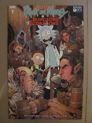 Rick and Morty vs Dungeons & Dragons #1 Oni IDW 2018 Series 1:25 Variant 9.6 NM+