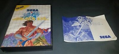 ***ATTENTION BOX AND MANUAL ONLY** Golden Axe (Sega Master System, 1989) SEE