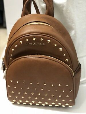eeb7a84c7ff0 MICHAEL KORS Abbey Luggage medium Studded Leather Backpack FREE SHIPPING