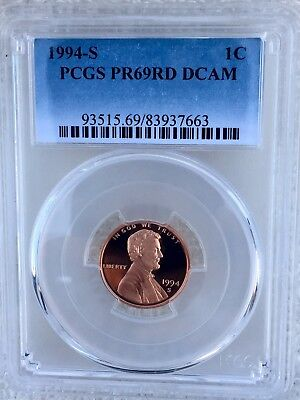 1994-S Proof Lincoln Cent Penny PCGS PR69RD DCAM FREE SHIPPING