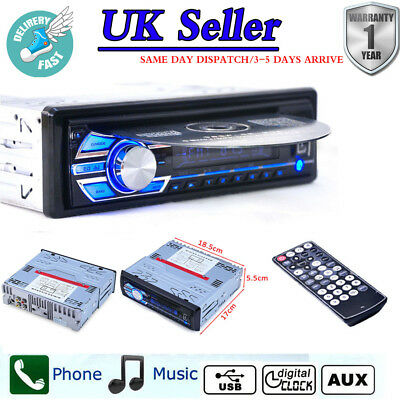Car Stereo FM Radio CD DVD SD/USB/AUX-IN w/ Remote Control MP3 Player