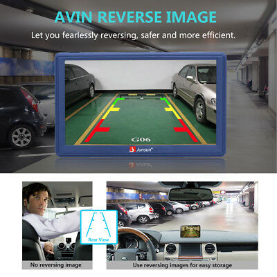 Junsun Android 7inch Touch Screen Car GPS Navigation Rearview Mirro AU Free map