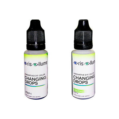 Iris Illume Innovative Eye Color Changing Drops in Emerald-Now w/ Int'l Shipping