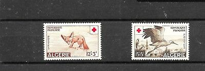 ALGERIA 1957 RED CROSS SET SG373,374 mm