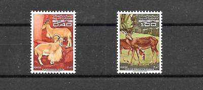 ALGERIA 1968 PROTECTED ANIMALS SET SG520,521 umm CAT £3.00