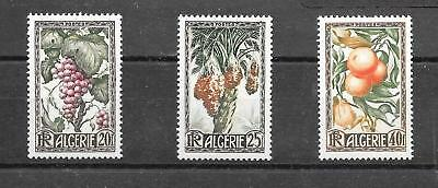 ALGERIA 1950 FRUITS SET SG229-301 umm CAT £4.00