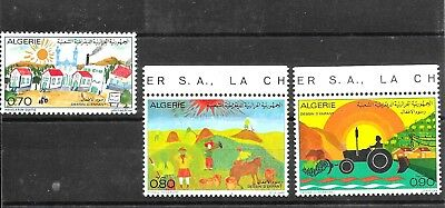 ALGERIA 1974 CHILDREN'S DRAWINGS SET SG640-642 umm CAT £2.80