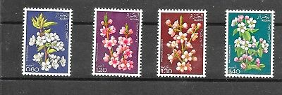 ALGERIA 1978 FRUIT TREE BLOSSOM SET SG734-737umm CAT £4.50